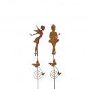 bouchon de métal 'sorcière', 2 designs ass